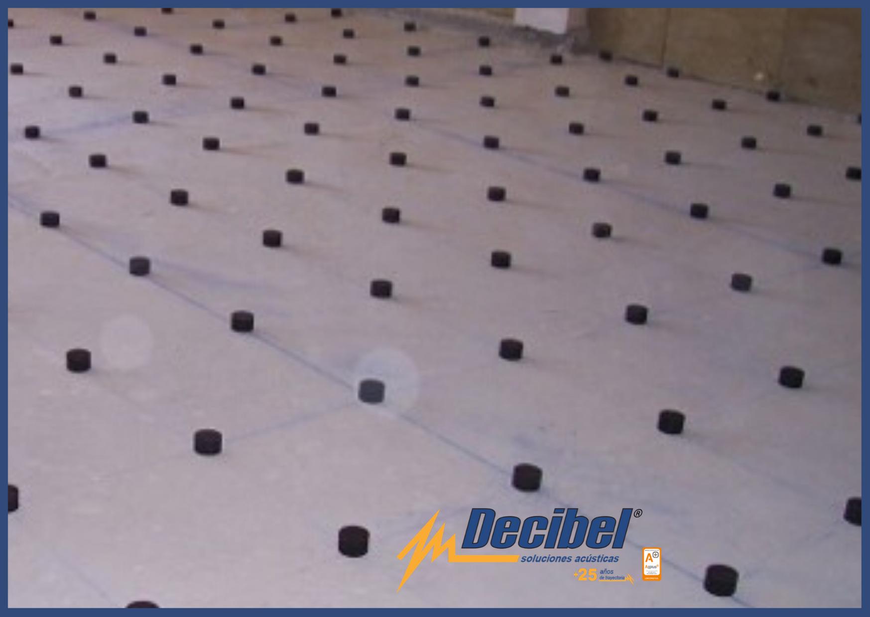 Soportes antivibratorios de AMC para suelos flotantes